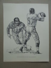 ROBERT RIGER SHELL OIL 1960 NEW YORK GIANTS SKETCH - ANDY ROBUSTELLI