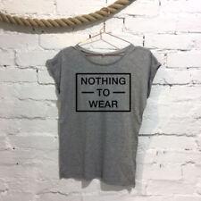 Camisetas de mujer sin marca color principal gris
