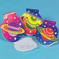 Pack of 12 - Planet Shaped Notepads - Space Party Bag Fillers
