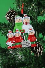 PERSONALISED CHRISTMAS TREE DECORATION ORNAMENT SHOVEL  FAMILY 5