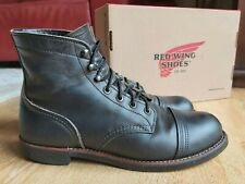 RED WING SHOES Iron Ranger 8116 - Charcoal Rough & Tough Leather