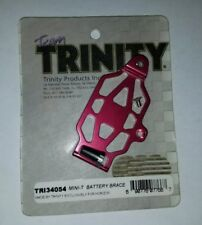 TEAM TRINITY MINI T BATTERY BRACE RED ANOIDZED ALUMINUM TEAM LOSI RC TRI34054