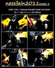 Diablo 3 Ps4/Xbox One - Charakter Packet - 150 Portale 100% Unsterblich - SC/HC