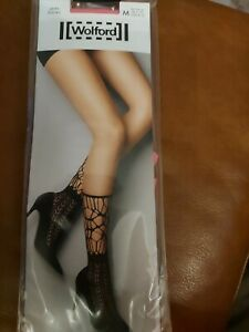 Wolford Linn Net Socks, Medium,  peony