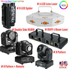 LED Stage Moving Head Light Laser RGBW Spider DMX Show DJ Xmas Party Lighting