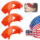 3PCS Dental Teeth Whitening LED Curing Light Protective Eye Goggles Glasses Red