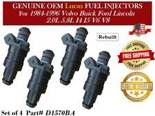 4 Fuel Injectors OEM Lucas for 1988-1990 Buick Reatta 3.8L V6 *D1570BA