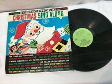 Vintage Mid Century Christmas  Sing a Long Record Lp Very Good Free Shipping