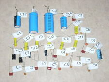 ROCKOLA JUKEBOX STEREO TUBE AMP REBUILD CAP CAPACITOR KIT FOR 435