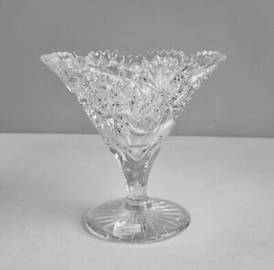 TUTHILL FLARED VASE SIGNED ABP CUT GLASS, COST $425.00 DECADES AGO EXCELLENT