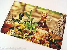 10 x Tischset OLIVENÖL Platzdecke Tischsets Küchen UNTERLAGE PLATZMATTEN Neu
