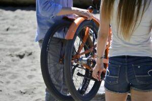 full size Belt Drive cruiser folding bike with 8-Speed Shimano Internal Hub