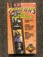Creepy Clips VHS Tape 1995 RARE Horror Halloween Frankenstein Mummy Werewolf Bat