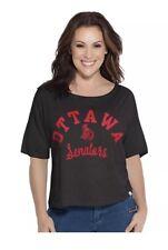 NHL Ottawa Senators Womens Base Reversible Tee Large Black Hockey New