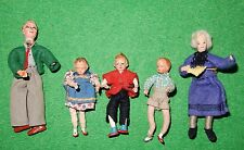 Konvolut Biegepuppen Massekopf Draht Familie Puppenstube original um 1930-50