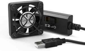 ELUTENG 40mm USB Lüfter 5V mit L/M/H 3 Geschwindigkeit PC USB Ventilator Leise