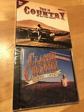 TIME LIFE CLASSIC COUNTRY 2 CD SET 1970-1974 BRAND NEW Made In Europe +BONUS !!
