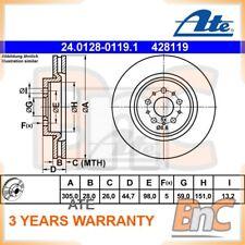 2x ATE FRONT BRAKE DISC ALFA ROMEO OEM 24012801191 60670801