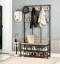 Grand porte-manteaux de style industrielavec Banc à chaussures 184 cm HSR086B02