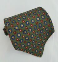 Polo by Ralph Lauren Olive, Blue Red Geometric Mens Silk Tie