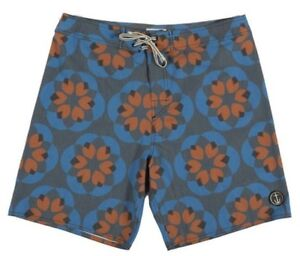 Captain Fin Lotuscope Hommes Polyester Extensible Boardshorts 32 Charbon Neuf