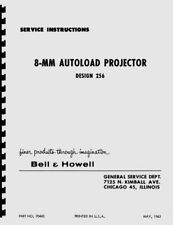 Bell & Howell 256 8mm Projector Service Repair & Parts Manual Reprint