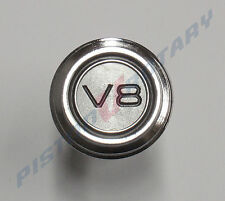 V8 Round Dash Badge , Chrome BRAND NEW for FORD FALCON XY XW XA GS GT 351 V8