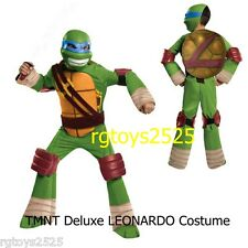 Teenage Mutant Ninja Turtles Deluxe Leonardo Costume Size 10-12 L New Halloween
