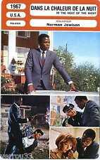 Movie Card. Fiche Cinéma. Dans la chaleur de la nuit (USA) 1967 Norman Jewison