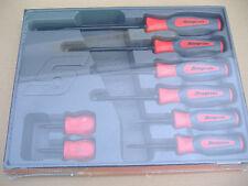 Snapon 8 Piece Industrial Finish Screwdriver Set Instinct Handles Factory Sealed