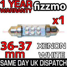 C5W SV8 239 272 36mm 4 LED 6000K WHITE NUMBER PLATE INTERIOR LIGHT FESTOON BULB