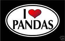 "5.75"" I LOVE PANDAS vinyl decal sticker.. PANDA BEAR"