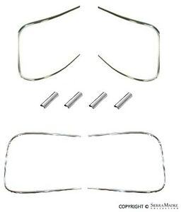 Front & Rear Window Trim Kit, Aluminum, Porsche 356B(T6)/356C (62-65)