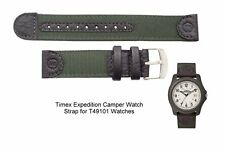 Genuine Timex Green Nylon Watch Strap Band for T49101 and T40021 Timex Watches