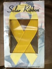 """New listing Solar yellow ribbon, """"Support our troops� memorial display"""