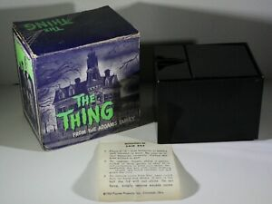 Vintage 1964 Filmways Poynter Products Addams Family Thing Bank w/ Box