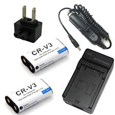 Charger + 2x Li-ion Battery for Pentax *ist D DL DL2 DS DS2 Digibino DB100 DB200