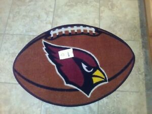 Arizona Cardinals Football Shaped Rug
