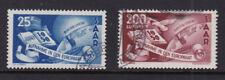 SAAR Germania 1950 USATA 2 valori da OCCUPAZIONE FRANCESE-Consiglio d'Europa
