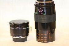 Vivitar Series 1  90mm f/2.5 VMC MACRO BOKINA Lens & Macro Adapter Minolta MD