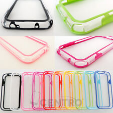 BUMPER CUSTODIA COVER TPU SLIM SAMSUNG GALAXY i9505 S4 CASE VARI COLORI