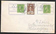 Curacao covers 1929 Shipcover KNSM SS ASTRE to Philadelphia