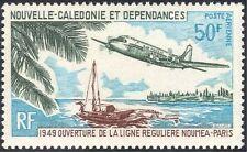 New Caledonia 1969 Planes/DC-4/Aircraft/Aviation/Boats/Transport 1v (n44055)