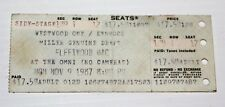 Fleetwood Mac - Concert Ticket Stub - The Omni Atlanta, Ga - 11/9/1987 Seat 12