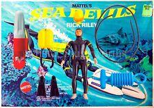NEW Vintage 1969 Mattel Sea Devils RICK RILEY Matt Mason FACTORY SEALED MIB Set