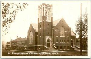 1931 MISSOULA, Montana RPPC Postcard PRESBYTERIAN CHURCH Wesley Andrews Photo
