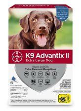 K9 Advantix Ii Flea Treatment Extra Large Dog 6 Month Supply Pack over 55 lbs