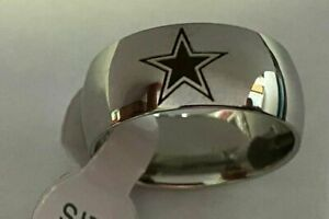 Dallas Cowboys Football Team Titanium Ring sizes 6-13 #dc4