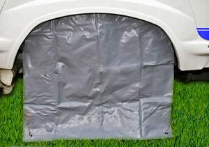 "1 pair (2) x MOTORHOME WHEEL COVERS 80cm for 15-16"" wheels UV TYRE PROTECTORS"