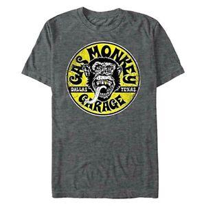 Gas Monkey Men's Logo Circle T-Shirt Officially Licensed Dallas Texas New